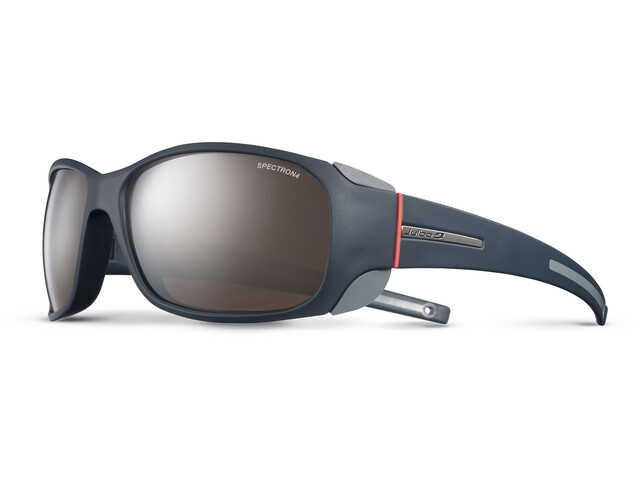 Julbo W's Monterosa Spectron 4 Sunglasses Dark Blue/Gray/Coral-Brown Flash Silver
